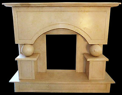 Kamin Marmor Gelb Silvia Gold Stone Marble Fireplace Handcarved Classic Design