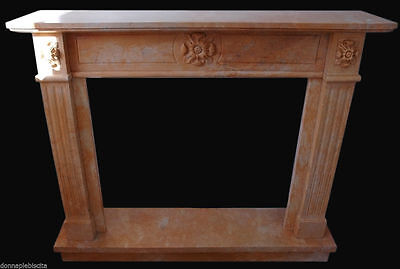 Kamin Marmor Rosa Old Marble Fireplace Ausstattung Classic Antiquariat Stil Deut