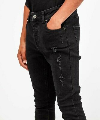 King's Will Dream Junior Luxmor Ripped Denim Jean Black