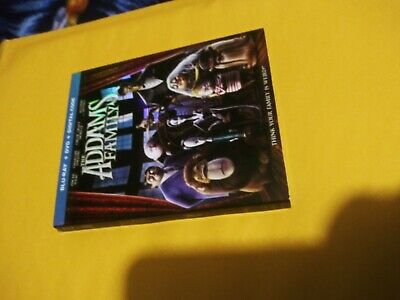 THE ADDAMS FAMILY Blu-ray + DVD + digital, with slipcover ,new. FREE SHIPPING