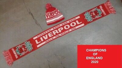 Kids Infants Liverpool Hat & Scarf Set,Champions 2020 Premier League Winners
