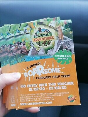 Chessington discount entry tickets for half term and other dates!! 1 per entry!
