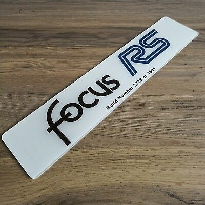 Focus RS MK1 Build Number Show Plate