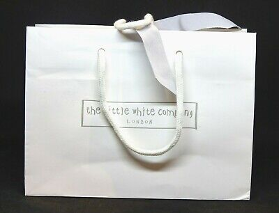 The Little White Company Gift Carrier Bag + Original Ribbon Very Good Condition