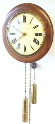 Antique 19ThC Postmans Striking Wall Clock 12 Inch Wall Clock English Wall Clock