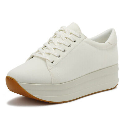 Vagabond Casey Womens White Trainers Ladies Sport Platform Chunky Casual Shoes