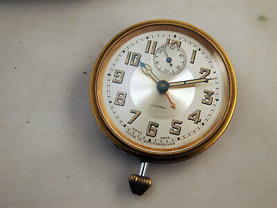 Capitol Swiss Alarm Travel Clock with Case -- WORKS!!