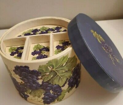 """5"""" round hat box for sewing kit storage jewelry box LOOK!"""