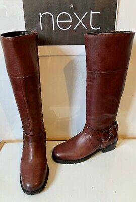 NEXT Comfy Leather Boots Size UK 4 EU 37 in excellent  condition