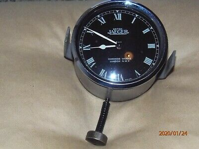 Vintage Jaeger car clock, Chronos Works, 1930s, 8-day wind-up, working well.