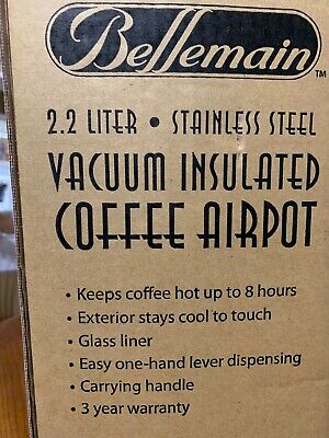 Bellemain 2.2 Liter Stainless Steel Vacuum Insulated Coffee Airpot