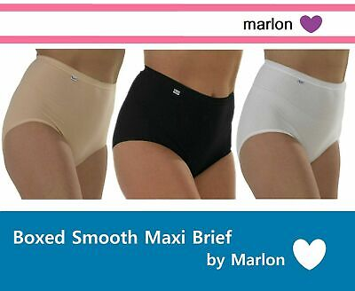 Marlon 100/% Cotton Full Briefs Knickers 3 Pair Pack White SIZE 12-38