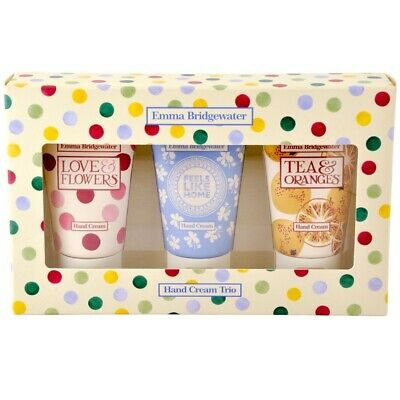 Emma Bridgewater Lovely Wall Flowers Summer Scents Hand Cream Trio Gift Set New