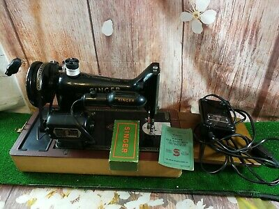 Vintage Singer 99k Hand Crank with motor  Sewing Machine heavy duty antique reto