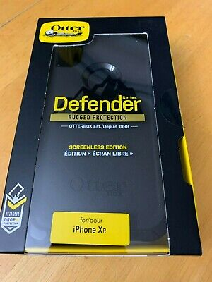 Otterbox Defender Series Case; Iphone XR With Holster Authentic Sealed NIB Black