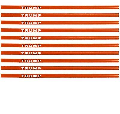 Trump Straws (2020 Election Version)- Red & White Reusable Plastic Straws- 10...