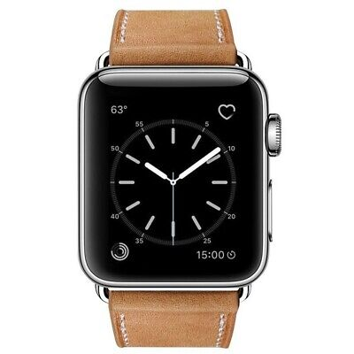 Marge Plus Compatible with Apple Watch Band 38mm 40mm, Genuine Leather Watch