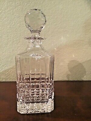 Tiffany & Co Crystal Wine Decanter/ Stopper- Plaid  Cut