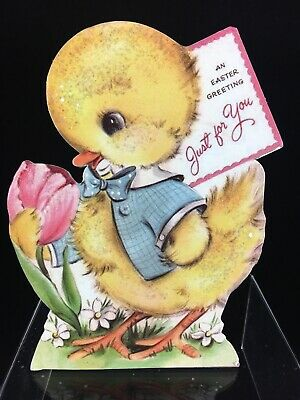 NEW~Retro Easter Chick Wood Dummy Board~Bethany Lowe~RL 9804