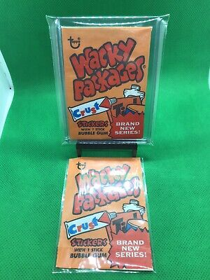 2 1974 Topps Wacky Packages Series 8 Wax Pack Wrappers Really Nice Shape!