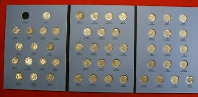 Complete Set Roosevelt Dimes 1946-1964 Circ in a Whitman Folder Book Album RD6