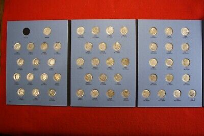 Complete Set Roosevelt Dimes 1946-1964 Circ in a Whitman Folder Book Album RD7