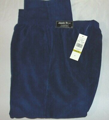 NWT Womens ALFRED DUNNER Sapphire BLUE Pull On CORDUROY Pants Size 14 S Insm 27