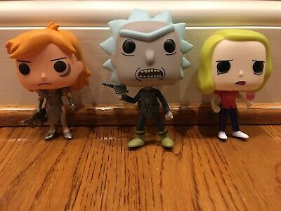 Funko Pop! TV: Rick and Morty - Beth Summer Rick Vinyl Figures Lot Set Preowned