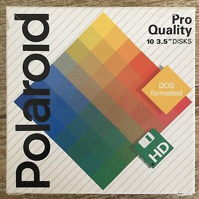 "Polaroid Pro Quality HD 3.5"" Disks Dos Formatted Disks MF/2HD"