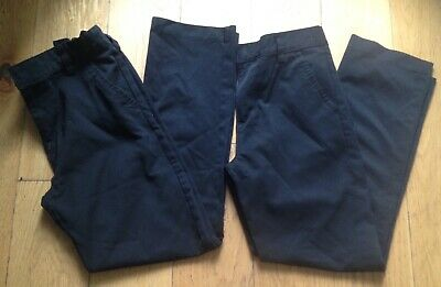 NEXT Boys Age 13 Years Straight Leg Black School Trousers x2 Pairs