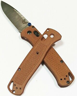 Scales for Benchmade Bugout 535 (Brown Micarta)
