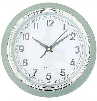 New Large Vintage Round Modern home bedroom retro time kitchen wall clock Grey