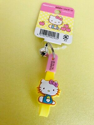 New SANRIO Hello Kitty Kawaii Cute key chains holder with a bell bicycle F//S