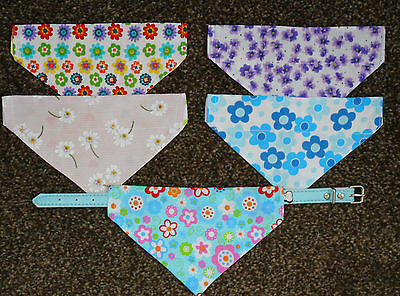 DOG BANDANAS *PACK OF 5* DOUBLE SIDED **SPECIAL OFFER**Florals