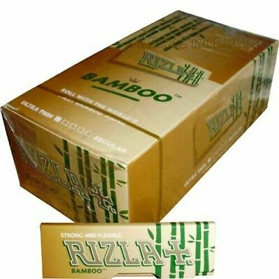 Rizla Bamboo FULL BOX 50 Booklets Smoking Rolling Papers Regular Size unbleached