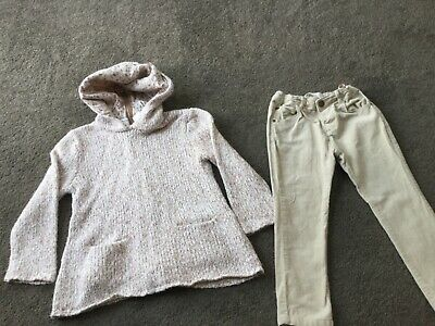 Zara girls outfit in  beige age3-4.used
