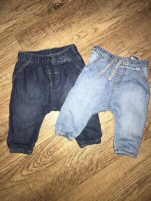 Baby Boys H&M Denim Joggers/jeans 6-9 Months 2 Pack