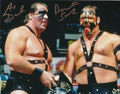 Demolition Ax & Smash Hand Signed 10x8 Photo WCW WWE Autograph COA