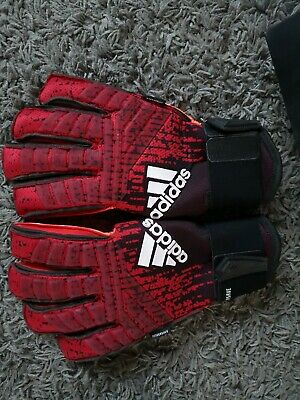 Adidas Pred Pro FS Gloves Football size 8  red/black