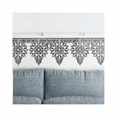 MACRAME Border Wall Furniture Floor Stencil for Painting