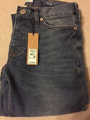 New Mens / Boys River Island Slim Fit Blue Jeans 26 Waist 32 Leg