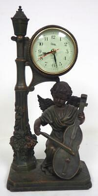 Musical Cherub Crosa Mantel Clock Quartz Movement Working Order
