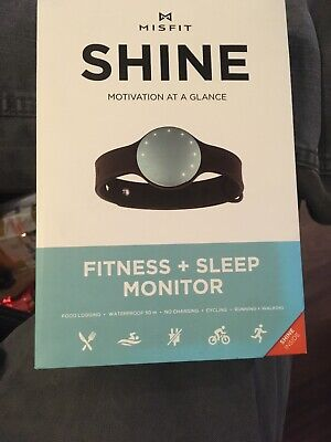 Misfit Shine Fitness & Sleep Monitor *TOPAZ*NO CHARGING.