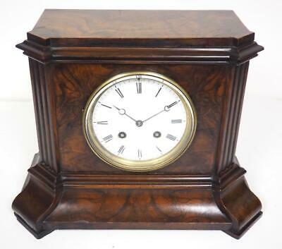 Burr Walnut French Mantel Clock Antique 8 Day Mantle Clock By T A Simpson London