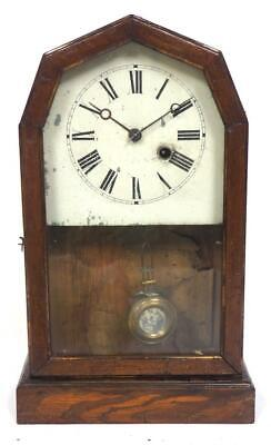 Early HAC Shelf Clock Large Glass Panel Mantel Clock C1900 Cottage Mantle Clock