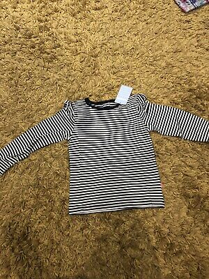 Bnwt Jojo Maman Bebe Navy Striped Top Age 5-6