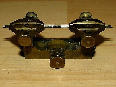 Antique Vintage Small Brass Watchmakers Jewelers Depthing Tool