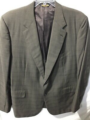 Brooks Brothers Mens Gray Striped 2 Button Dress Jacket Size Sz 43R