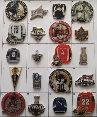 Different Teams Hockey Nhl Logo Player Jersey All Star Pin (Your Choice) # G630