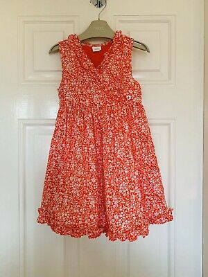 Next Girls Red Floral Wrap Over Dress Age 3 Years